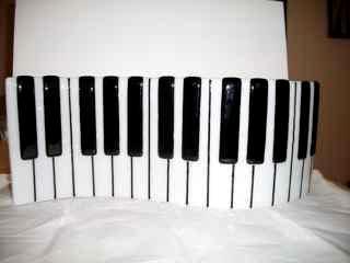 Piano Keyboard - Freestanding fused glass