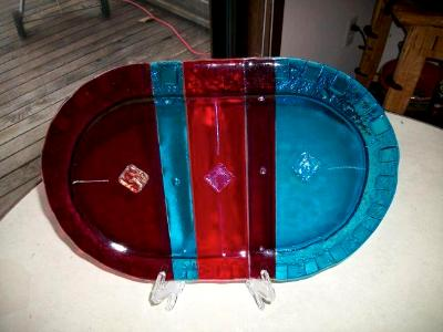 Racetrack - fused glass plate