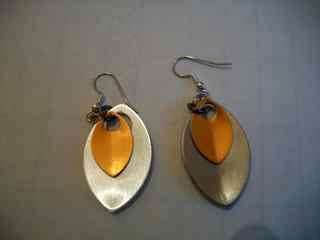 Scaled anodized aluminum earrings
