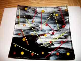 Chopsticks - Fused Glass Plate
