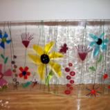 Flower Wavy - freestanding fused glass