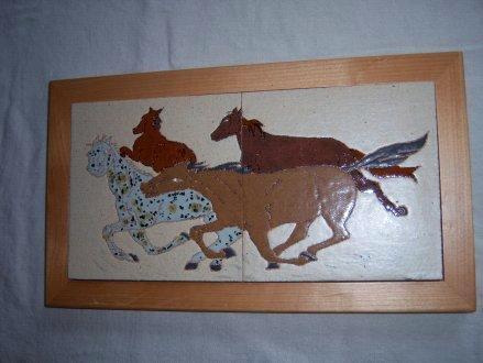 Wild Horses - handmade framed tiles
