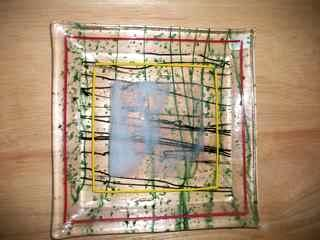 Stringer Glass #1 - fused glass plate