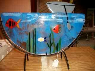 Let's Go Fishing - Fused Glass