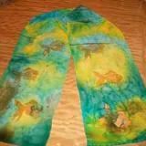 Swimming Fish Silk Scarf