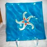 Starfish - fused glass plate