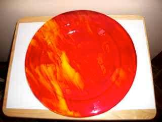 Orange/Red Fused Glass Bowl