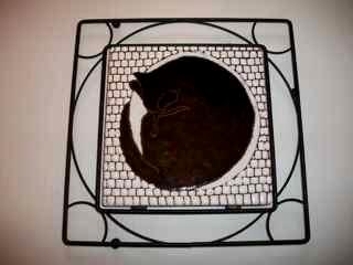 Let Sleeping Cat Lie - handmade tile framed