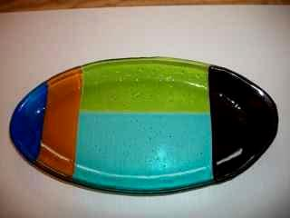 Oblong Fused Glass Platter