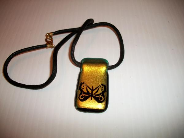 Fused Glass Butterfly Pendant