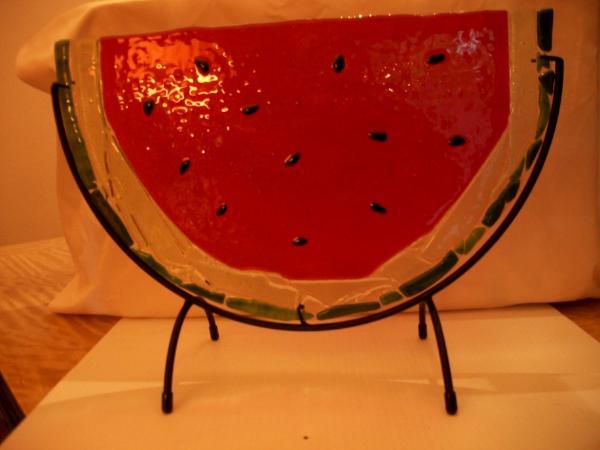 Watermelon Fused Glass