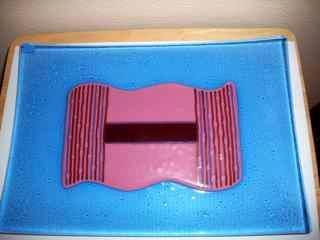 Rectangular Platter - fused glass plate